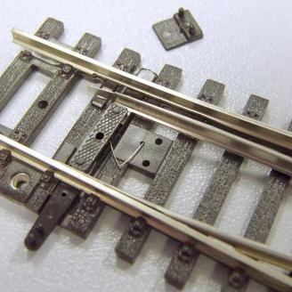 10 agrafes de réglage d'aiguillage-HO 1/87-PIKO 55231