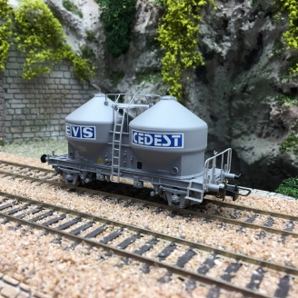 Wagon transport de ciment EVS CEDEST SNCF-HO 1/87-JOUEF HJ6062 DEP179-113
