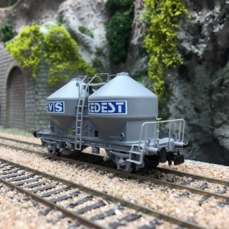Wagon transport de ciment EVS CEDEST SNCF-HO 1/87-JOUEF HJ6062 DEP179-114