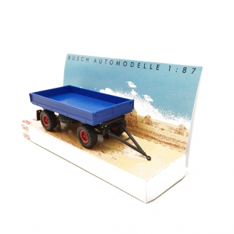 Remorque HW60 Bleue - HO 1/87 - BUSCH 53000
