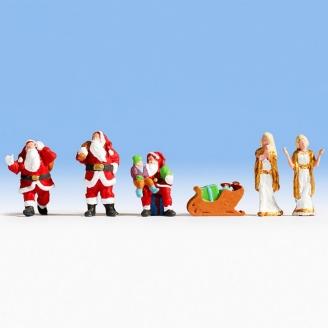 "6 figurines ""Noël"" sonorisé-HO-NOCH 12897"