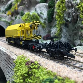 Grue ferroviaire mobile DB, Ep V fonctionnelle et digital son 3R-HO 1/87-ROCO 79035