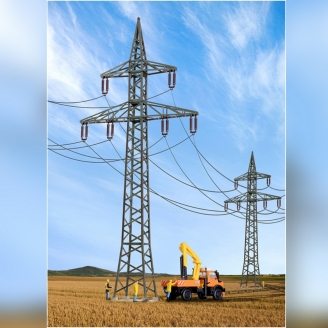 4 pylones haute tension-HO-1/87-KIBRI 38533