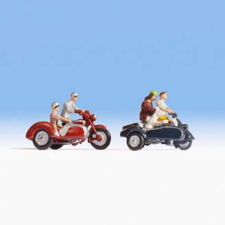 Motards - Balade en Side Car - HO 1/87 - NOCH 15905