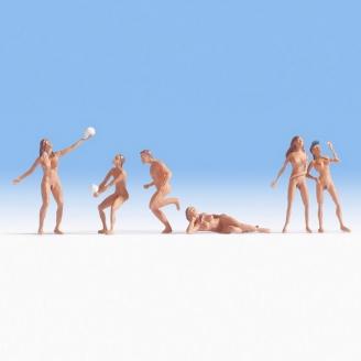 6 Nudistes à la plage - HO 1/87 - NOCH 15844