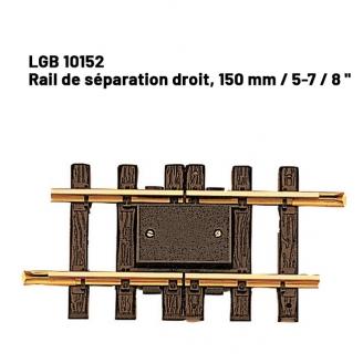 Rail de séparation droit 150 mm train de jardin -G-1/22.5-LGB 10152