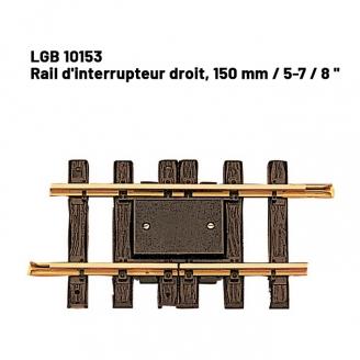 Rail d'interrupteur droit 150 mm train de jardin -G-1/22.5-LGB 10153