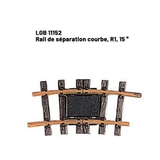 Rail de séparation courbe, R1, 15 ° train de jardin -G-1/22.5-LGB 11152