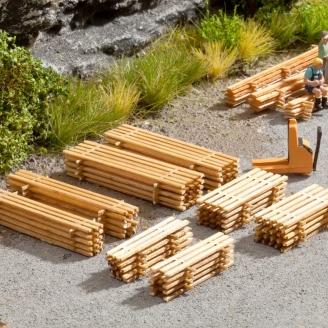 4 x 2 Piles de planches-HO 1/87-NOCH 14214
