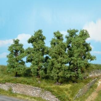 4 arbres fruitiers 9-11 cm de haut-HO 1/87-HEKI 1731