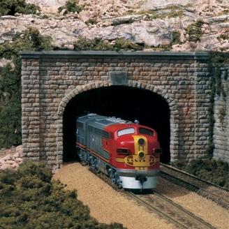 Entrée de tunnel double voies-HO 1/87-WOODLAND SCENICS C1257