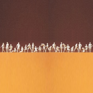 26 personnages à peindre-HO 1/87-PREISER 16400
