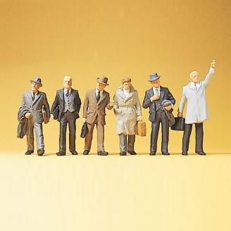 6 hommes d'affaires-HO 1/87-PREISER 10381