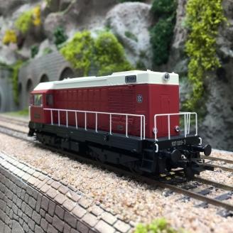 Locomotive BR 107 009-3 DR Ep IV Digital son-HO 1/87-PIKO 55910