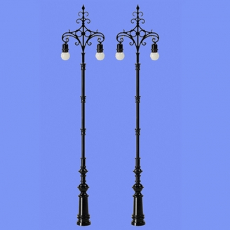 2 lampadaires ornementés classiques-N 1/160-MABAR 60187N