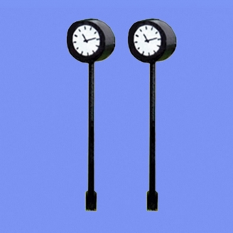 2 Horloges sur pied type gare-HO 1/87-MABAR 60188HO