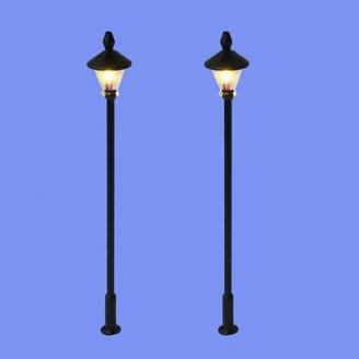 2 lampadaires classiques-HO 1/87-MABAR 60202HO