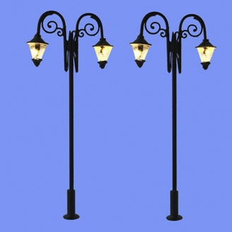 2 lampadaires doubles classiques-N 1/160-MABAR 60204N