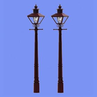 2 lampadaires classiques-HO 1/87-MABAR 60186HO