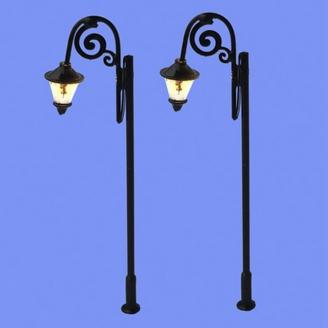2 lampadaires classiques-HO 1/87-MABAR 60203HO