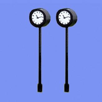 2 Horloges sur pied type gare-N 1/160-MABAR 60188N