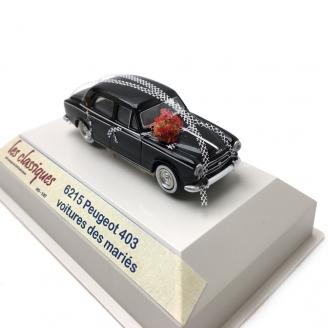 """Peugeot 403 Noire """"Mariés""""-HO 1/87-SAI 6215"""
