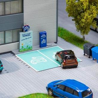 Borne de rechargement pour véhicules électriques-HO 1/87-FALLER 180280