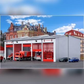 Caserne pour véhicules de Pompiers-HO 1/87-KIBRI 39219