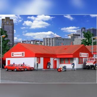 Bâtiment / Caserne de Pompiers-HO 1/87-KIBRI 39220