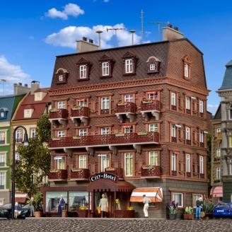Hôtel de ville avec éclairage LED-HO 1/87-VOLLMER 43782