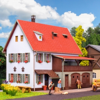 Grande maison de campagne avec grange-HO 1/87-VOLLMER 43721