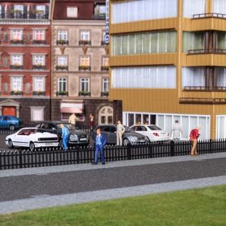 Clôture type fer noir 192 cm-HO 1/87-VOLLMER 45007