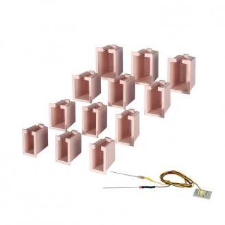 Kit éclairage de maison 12 boîtes 4 tailles, 1 LED blanche-HO 1/87-VIESSMANN 6005