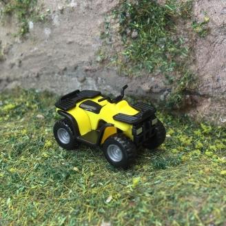 Quad - ATV Jaune-HO 1/87-WIKING 2304
