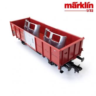 Wagon type E 040 Verzinkerei Kopf DB Ep IV- Echelle 1  1/32 - MARKLIN 58007