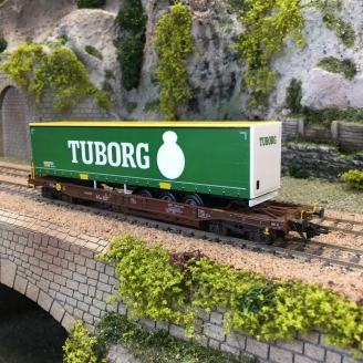 Wagon Kangourou Sdgmns 33 AAE-DB Tuborg Ep VI -HO 1/87-MARKLIN 47113