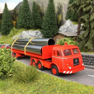 Camion plateau Henschel-HO 1/87-WIKING 55404