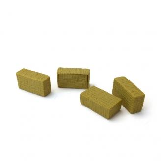 4 balles de foin carrées-HO-1/87-WIKING 1607