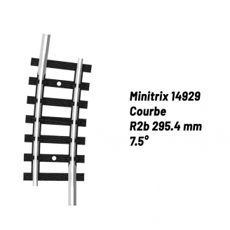 Rail Courbe R2b 295.4 mm 7.5°-N-1/160-MINITRIX 14929