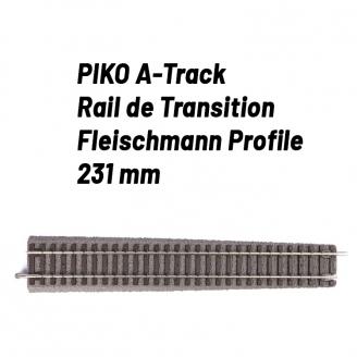 Rail de transition Droit Fleischmann Profile-HO 1/87-PIKO 55432