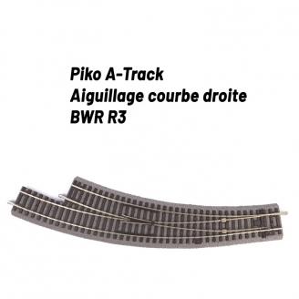 Aiguillage courbe droite R3 avec ballast-HO 1/87-PIKO 55428