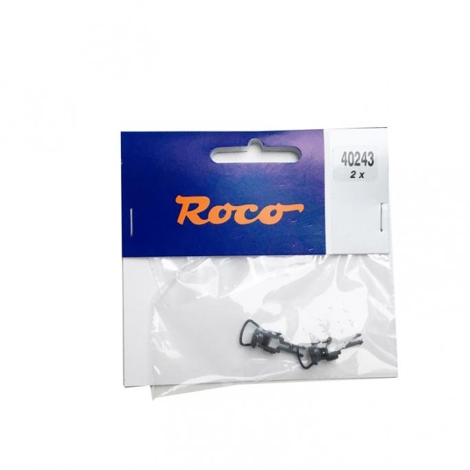 2 têtes d'attelage standard boucles 40243 -HO-1/87-ROCO