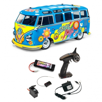 Pack VW Combi Split Flower Power M05 - 1/10 - TAMIYA 47453 PCK