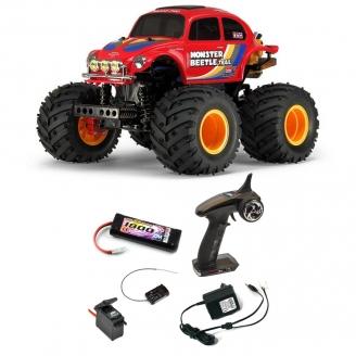 Pack VW Monster Beetle Trail GF01 TR Kit - 1/14 - TAMIYA 58672 PCK