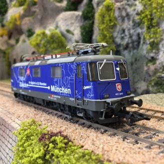 Locomotive Re 421 379 SBB Ep VI digital son-HO 1/87-TRIX 22666