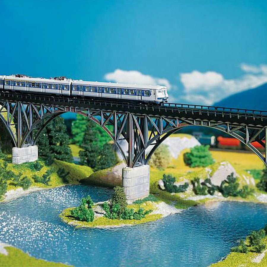 Pont droit à arches métallique-N-1/160-FALLER 222581