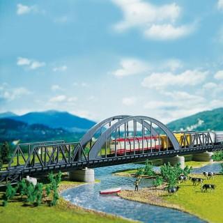 Pont droit en arc métallique-N-1/160-FALLER 222583