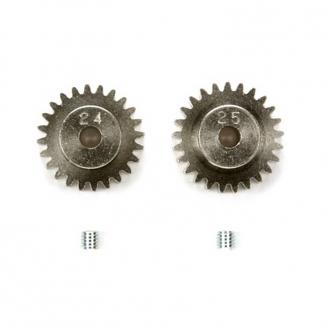 Pignons moteur 24/25T 0,6 - 1/10 - TAMIYA 50477