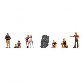 6 archéologues + accessoires - HO 1/87 - NOCH 15043