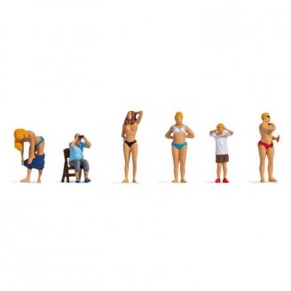 6 personnages à la plage - HO 1/87 - NOCH 15847